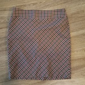 The Limited Pencil Skirt Brown and Pink